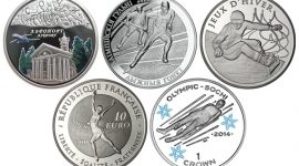 Памятные монеты зимних Олимпийских игр в Сочи-2014 из разных стран мира