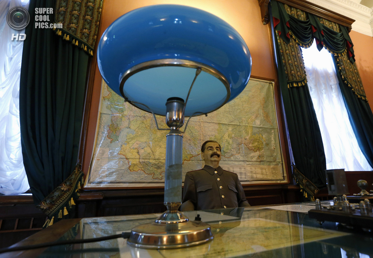 The wax figure of Soviet dictator Joseph Stalin is seen in a cinema hall at Stalinís Villa in Sochi