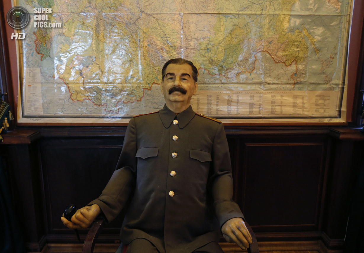 Wax figure of Soviet dictator Stalin is seen in a cinema hall at Stalinís Villa in Sochi