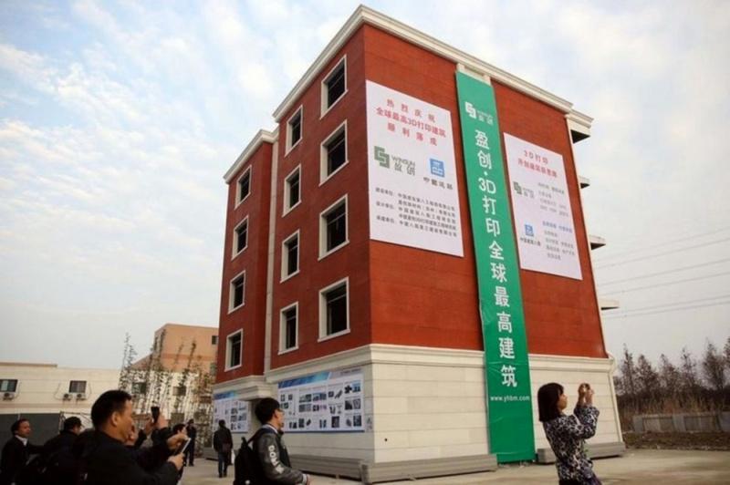 Китайцы печатают дома на 3D-принтере