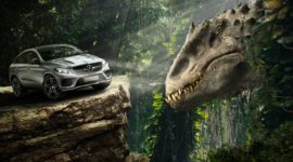 Автомобили Mercedes-Benz, которые засветились в культовом фильме про динозавров