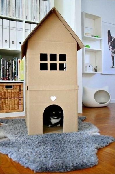 Кошачьи домики своими руками все фото